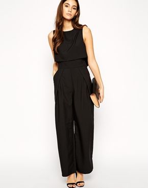 fe32ed1dc2 ASOS PETITE Exclusive Premium Jumpsuit with Crop Top Layer $113 ...