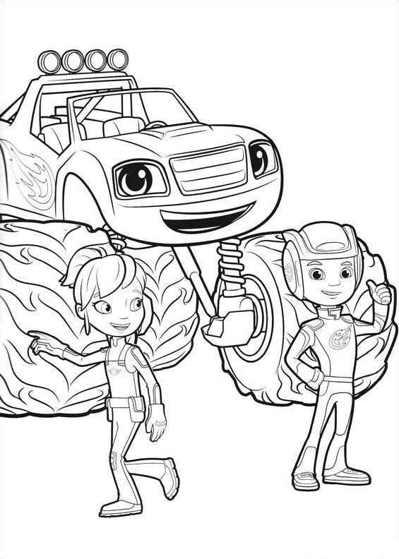 afbeeldingsresultaat voor kleurplaat blaze truck