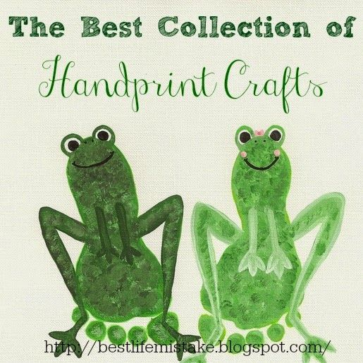 Adorable footprint frogs the best collection of handprint for Hand and foot crafts