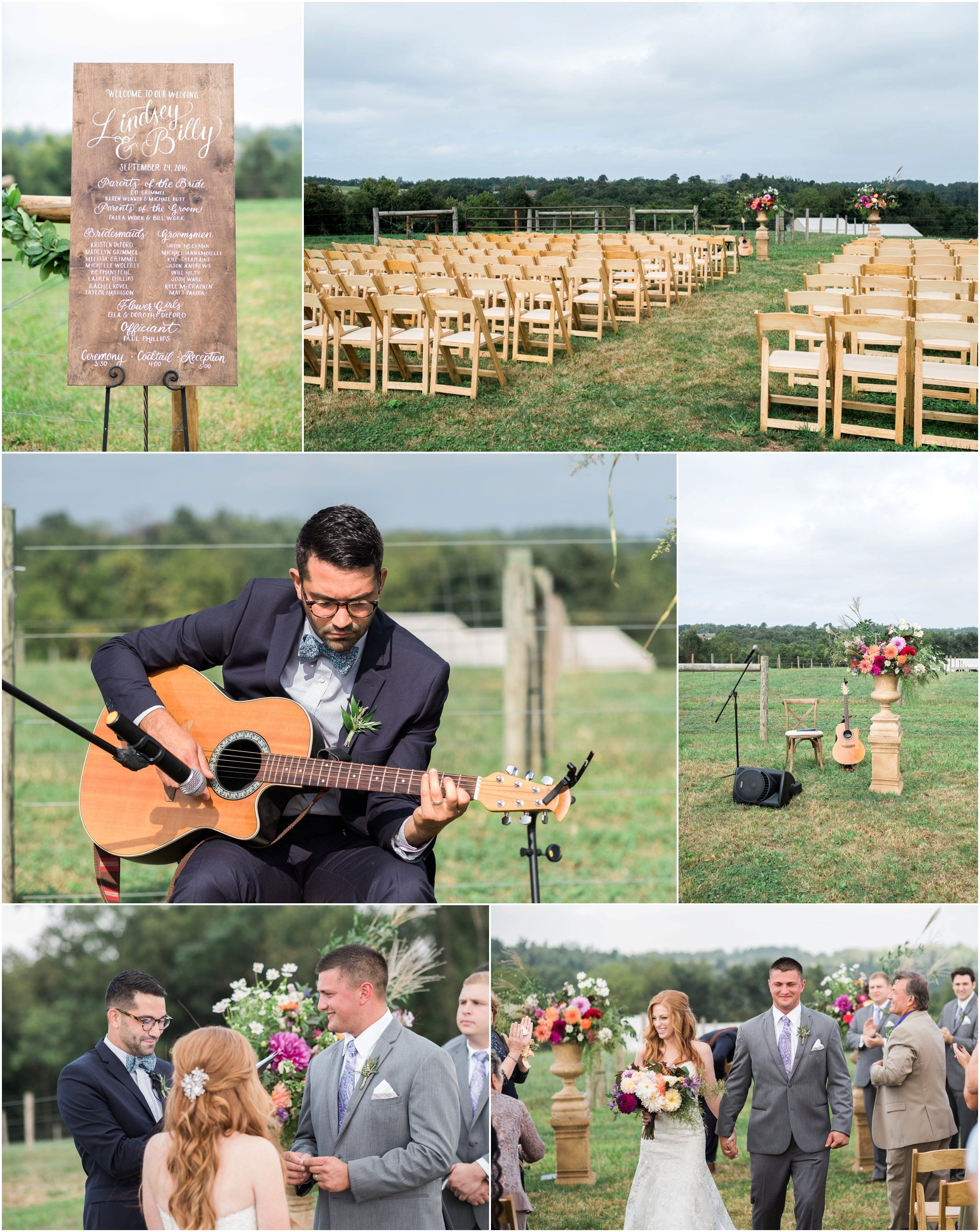 Outdoor October Wedding Day With Live Music And Ceremony Autumn Inspiration