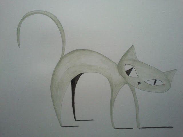 Feliscatus Ilustración Grey cat