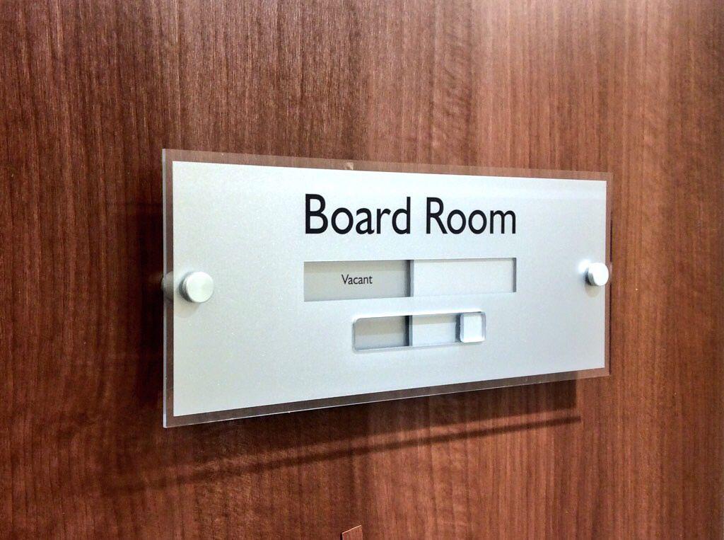 sliding door signs boardroom meetingroom conference general