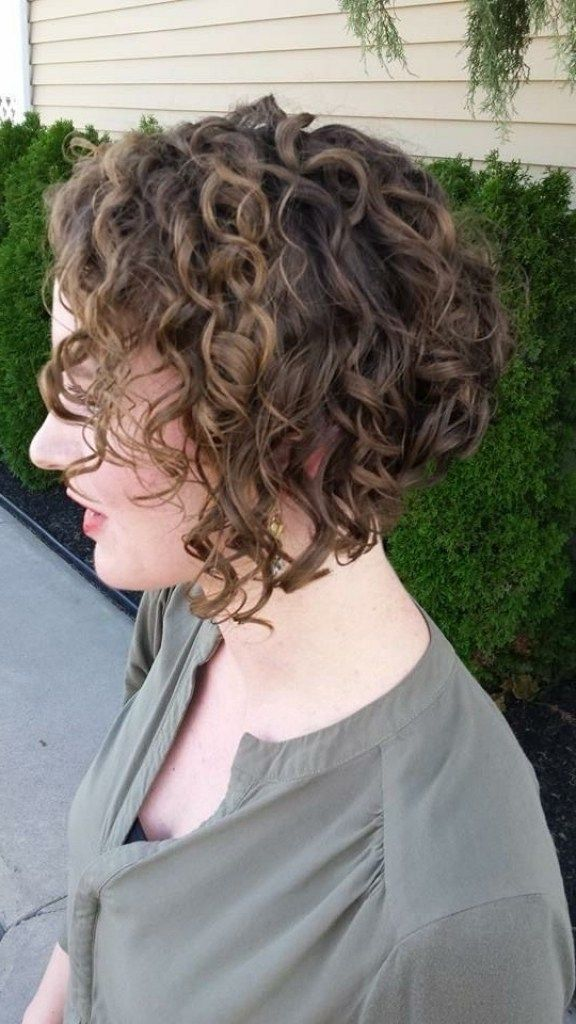 1000 Ideas About Curly Inverted Bob On Pinterest Curly Bob Regarding Inverted Bob Haircut For Curl Inverted Bob Hairstyles Curly Inverted Bob Curly Hair Styles