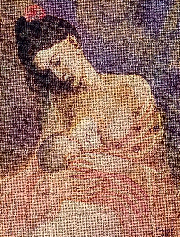 Fonkelnieuw Pablo Picasso, Moeder en Kind, 1905 (met afbeeldingen) | Schilderij QO-29