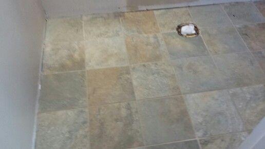 Candy's bathroom floor