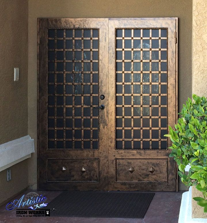 templar - wrought iron security screen double doors