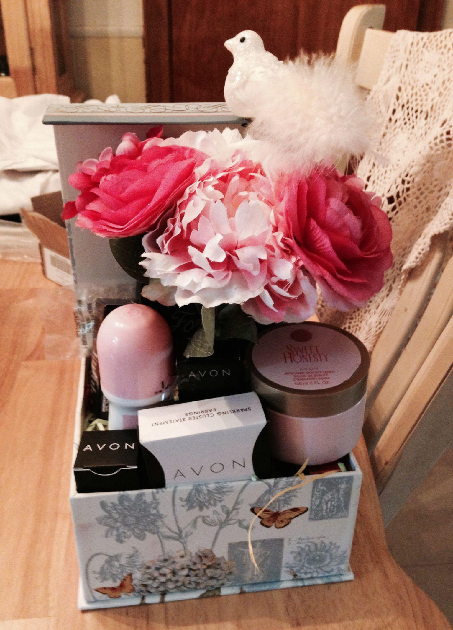 Sister's birthday basket Avon Dollar store gifts