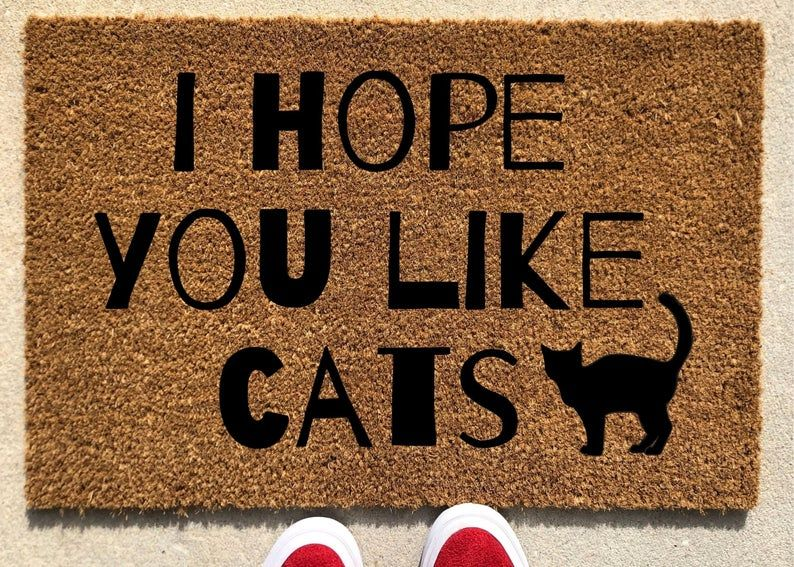 I Hope You Like Cats Home Decor Custom Doormat Welcome Mat