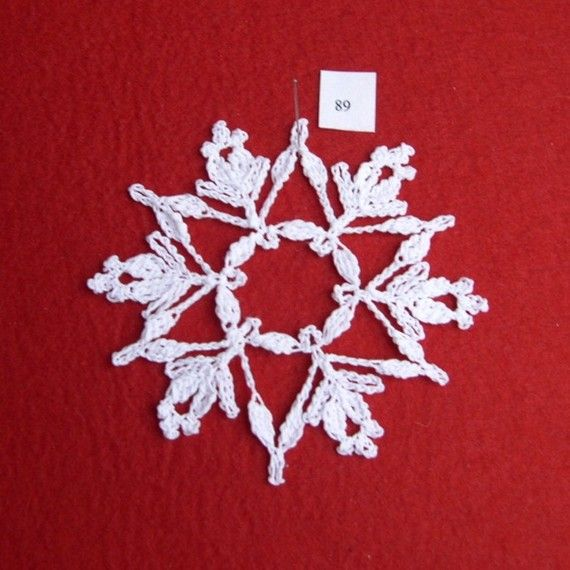 PDF Patterns for 5 Crocheted Snowflakes set 18 от TheNeedleWorks