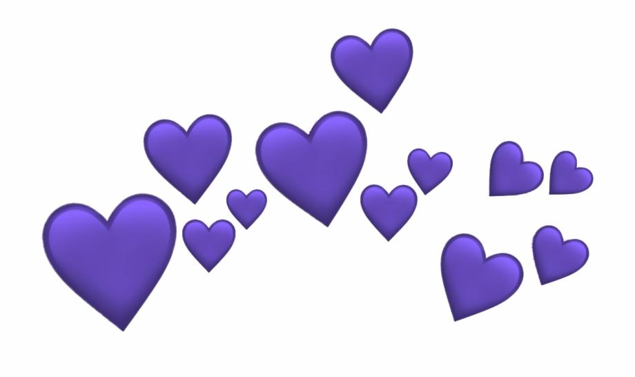 Purple Heart Emoji Heart Emojis Png Heart Emoji Clip Art Purple Heart