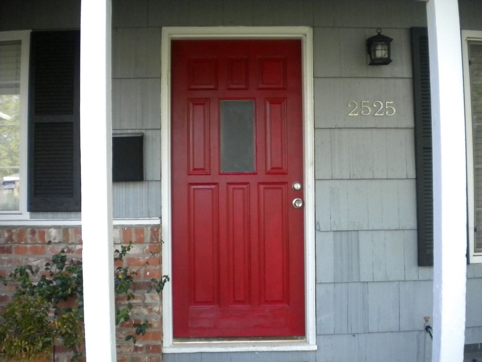 red front door on brick house. I Ve Always Wanted A Red Front Door And Have Been Considering On Brick House R