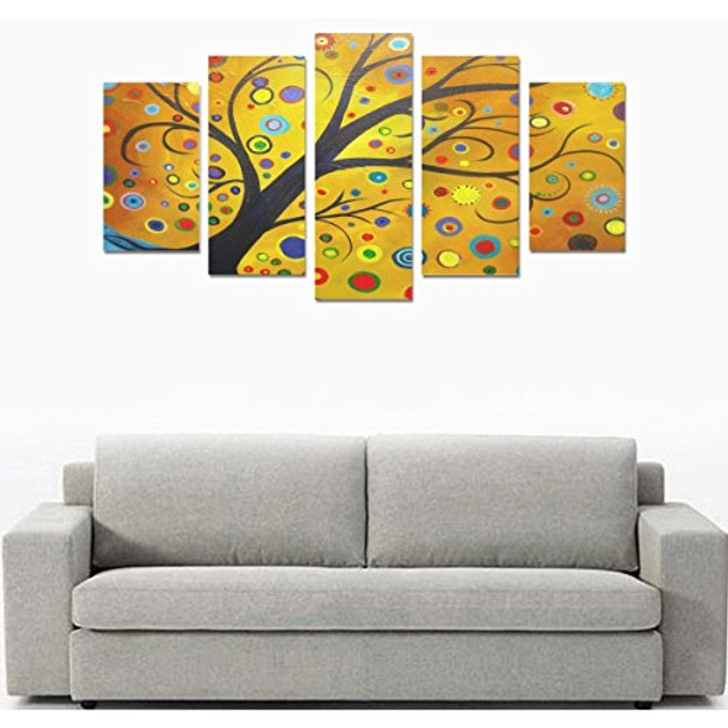 5 Piece Canvas Prints, Tree Of Life Picture On Canvas Wall Art For ...