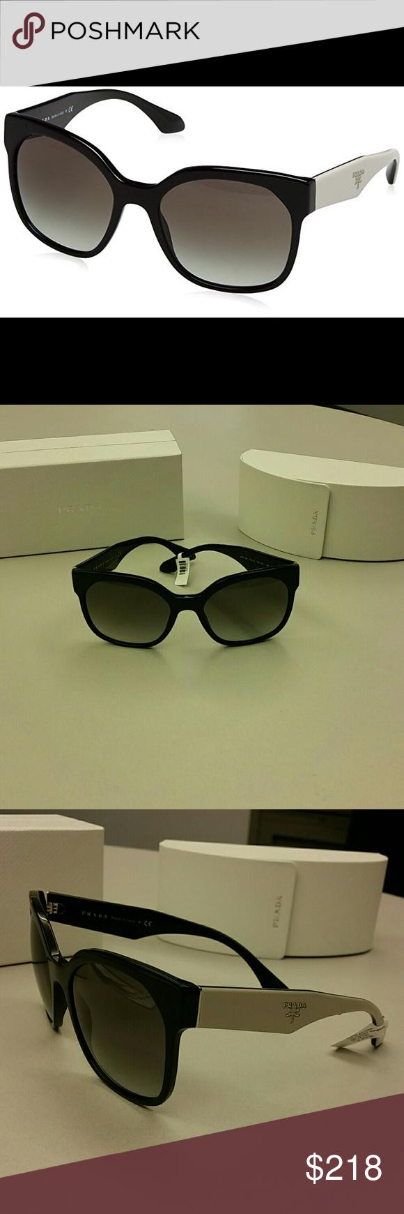 2b90f2798f5b ... shopping host pick prada black sunglasses w white side 9bae5 0aec4