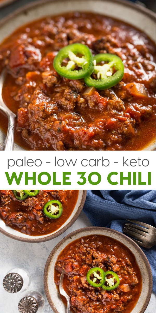 Paleo Whole30 Chili Recipe (Keto, Low Carb) images