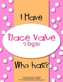 ON SALE:  I Have-Who Has: Place Value-Tens & Ones  $1.70