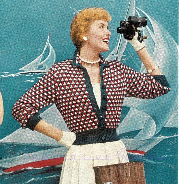 free vintage knitting patterns pattern 1950s cardigan subversive ...