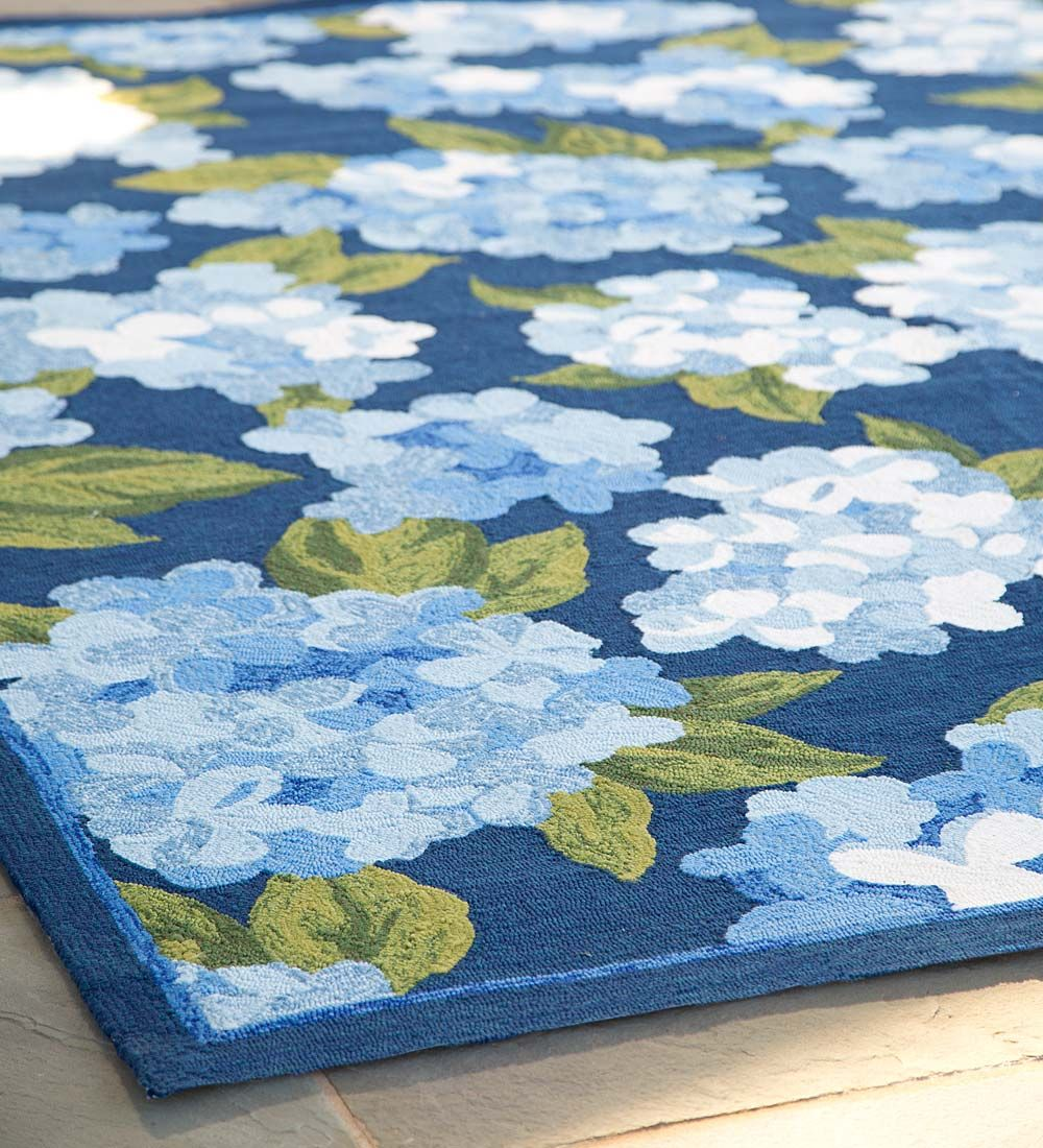 Hydrangeas Indoor Outdoor Rug Indoor Outdoor Rugs Patio Rugs Porch Rugs Weatherproof Rugs Outdoor Rugs Indoor Outdoor Rugs Outdoor Rugs Patio