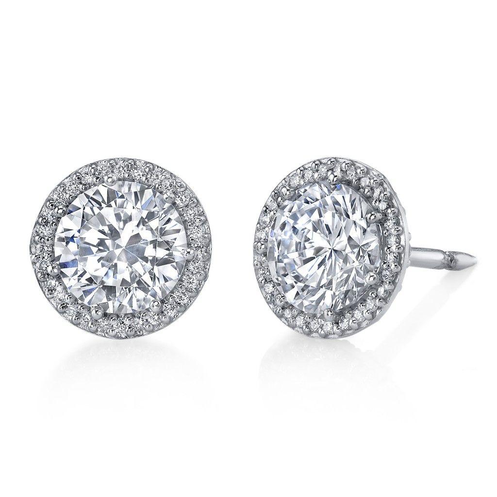 Diamond Stud Earrings Tacori From Robbins Brothers Sku 0384162