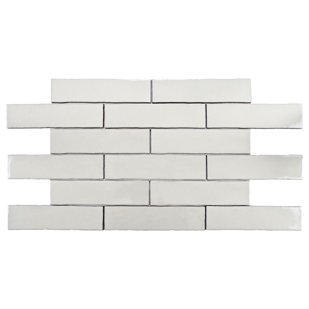 Alaska Craquelle White 3 Inch X 12 Inch Ceramic Wall Tile 4 Sq Ft Case Ceramic Wall Tiles Wall Tiles White Ceramics