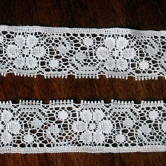 2 yards Vintage white Lace 1970s Vintage Supplies Trim by MyWealth