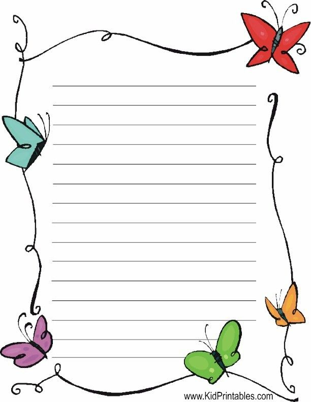 Free Printable Stationery Templates Deco corner lined stationery – Free Printable Lined Stationary