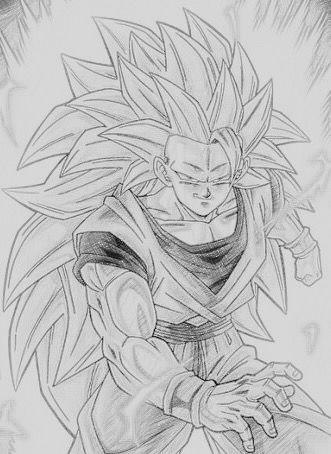 Power Up To Super Saiyan 3 Drawn By Son Goku Kakarot