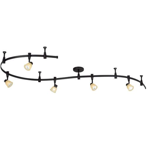 "Emma 5-light 108"" Bronze Flex Track Light At Menards $119"