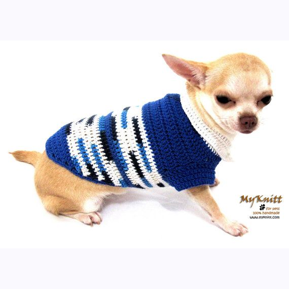 Christmas Dog Costume Blue Handmade Pet Clothing by myknitt, $30.00 ...