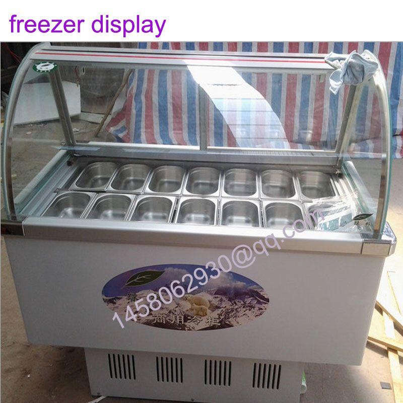 14 geschmack display kühlschrank essen gefrierfach Eis Vitrine Eis ...