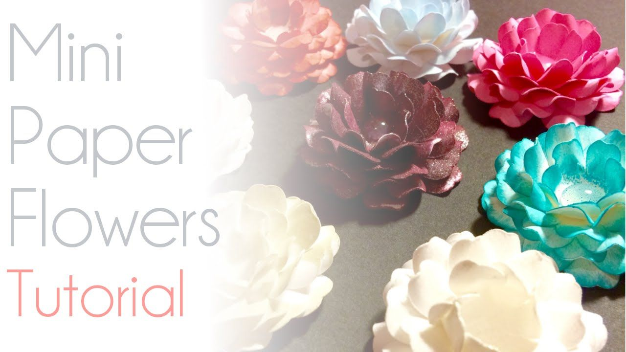 Mini Paper Flowers Cricut Tutorial Paper Flowers Cricut