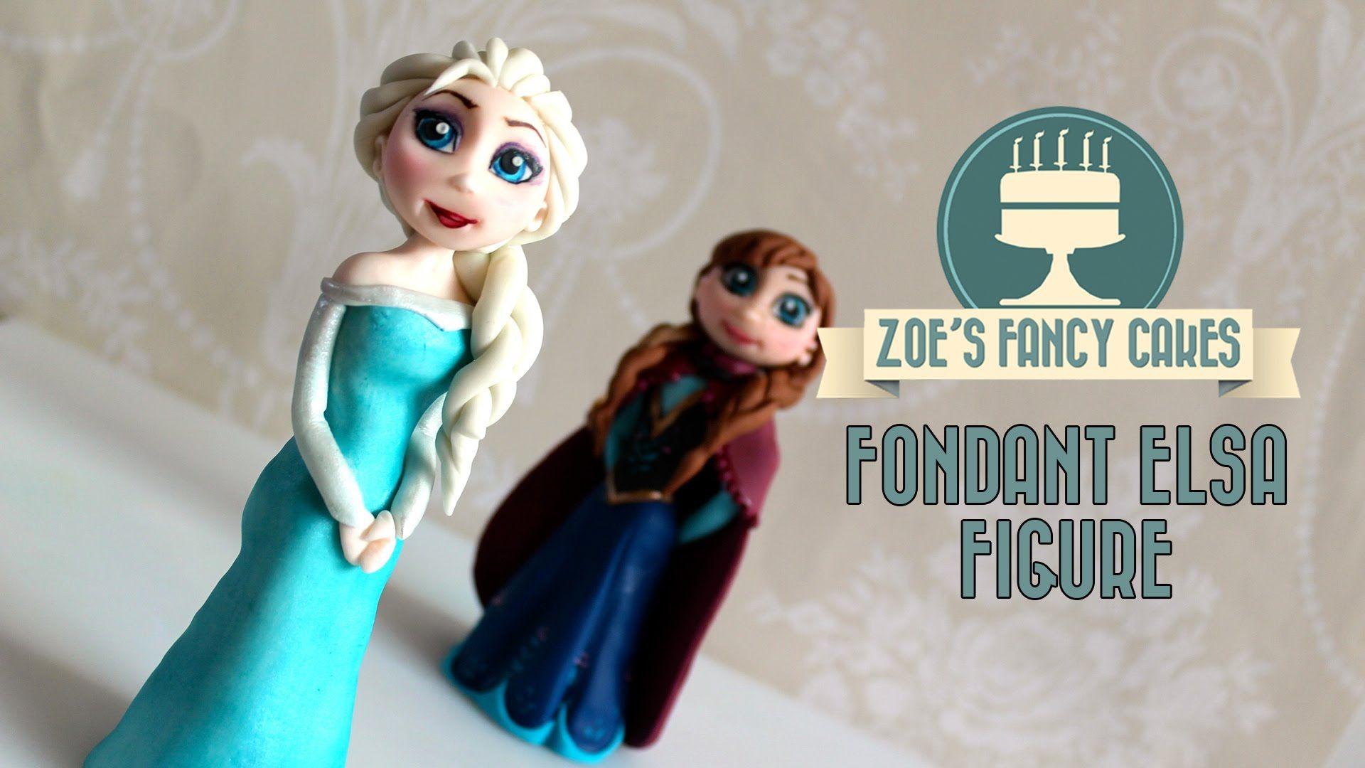 Elsa Cake Topper Frozen Doll How To Make Tutorial In This Disney I