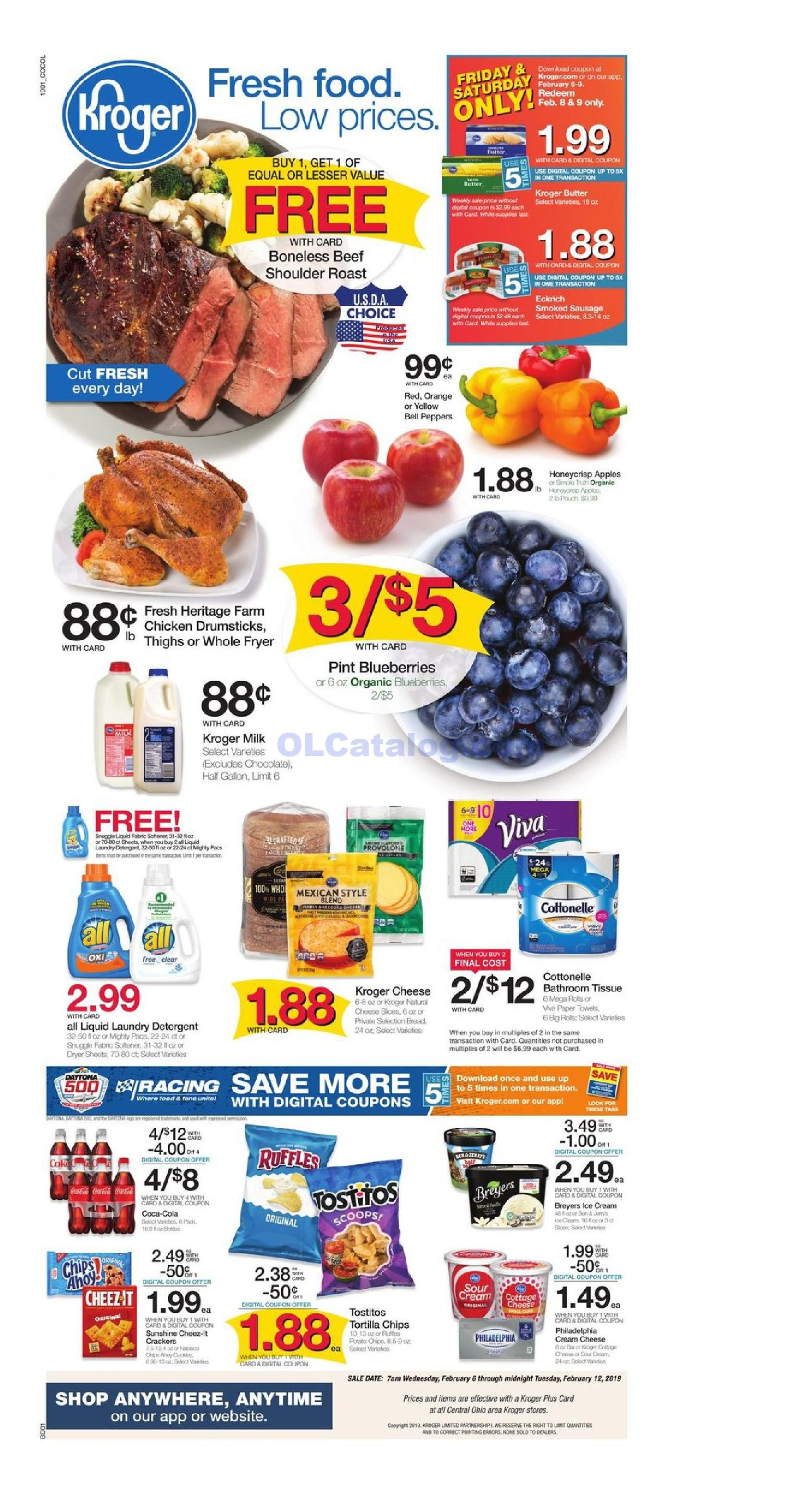 Kroger Weekly Ad February 6 12 2019 Check Latest Kroger Weekly Ad Flyer At Kroger Near Me You Can Find Kroger Digital Coupons Fresh Food Kroger Weekly Ads