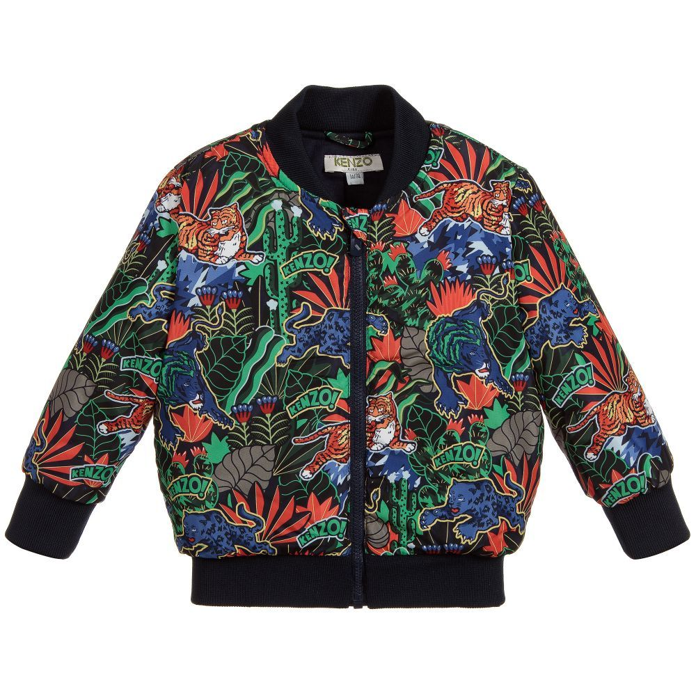 ad0ab962d98a Kenzo Kids Jungle Print Padded Jacket. Shop from an exclusive selection of  designer Coats   Jackets