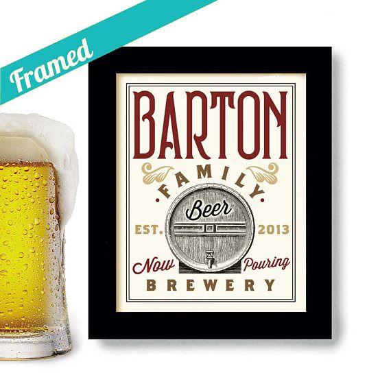 Beer Gift Personalized Gift For Beer Drinker Framed Art