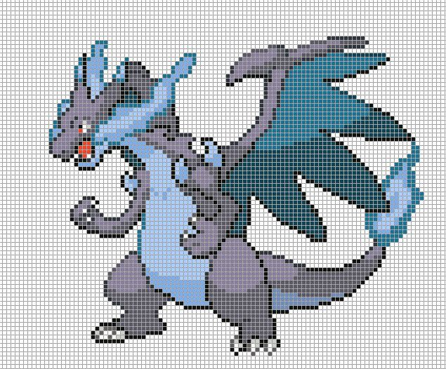 Image Gallery For Easy Charizard Pixel Art Grid Pixel