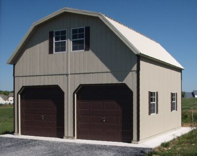 Kits with everything to build a 2 car garage with storage above ...