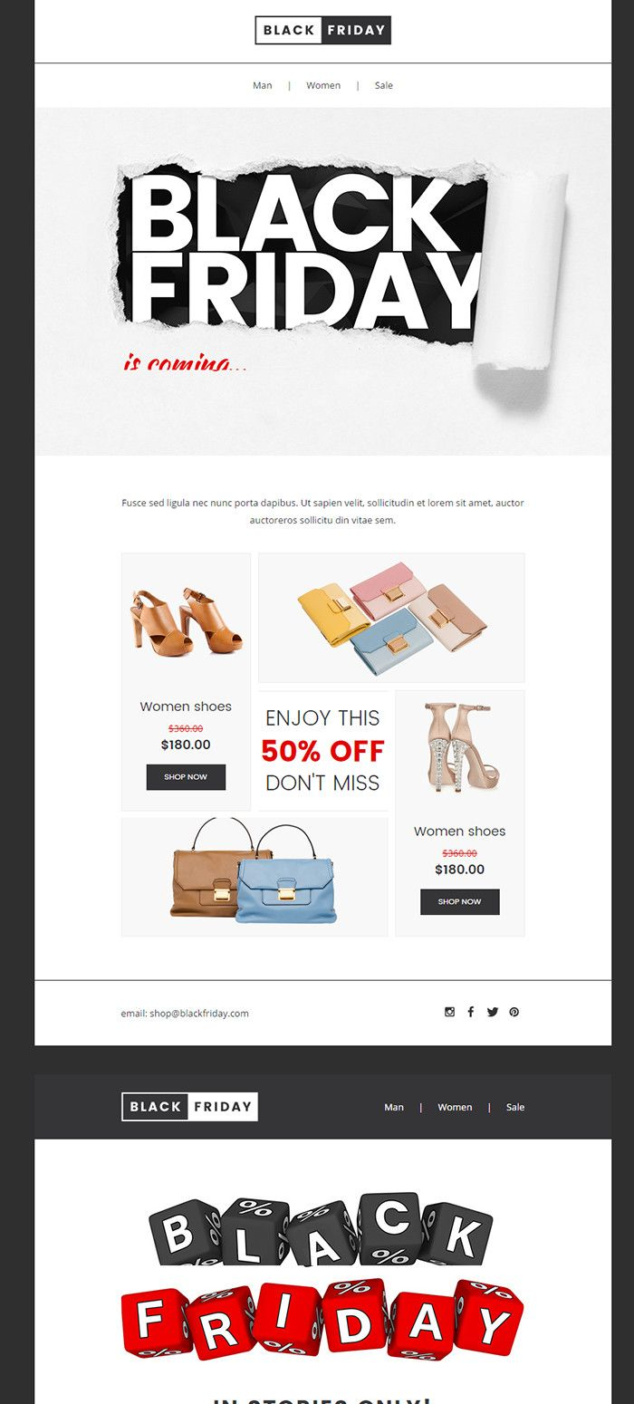 The Best Black Friday Email Template To Increase Black Friday 2016