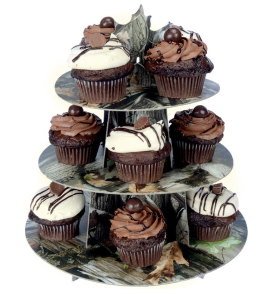 Next Camo Cupcake Stand Cupcake Camuflagem