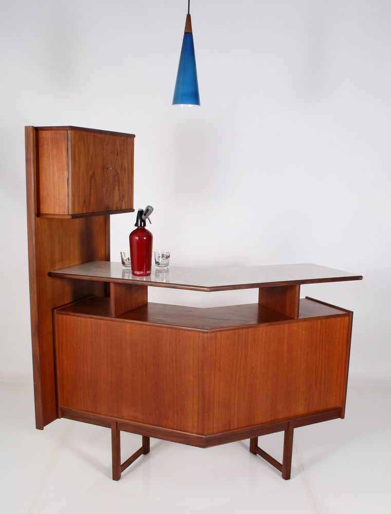 bar 60er teak bar sideboard cabinet a 60 60s danish design. Black Bedroom Furniture Sets. Home Design Ideas