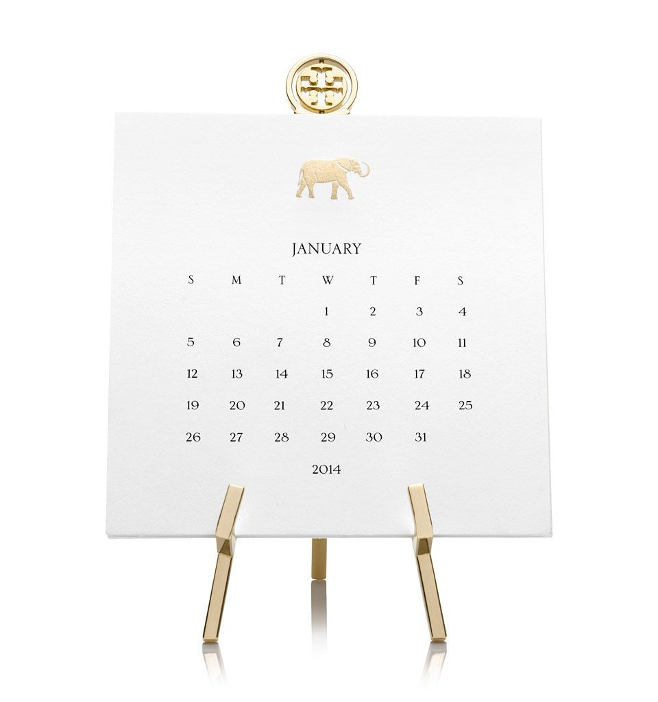 Mark The Page Of Time In Style With Tory Burch Desk Calendar