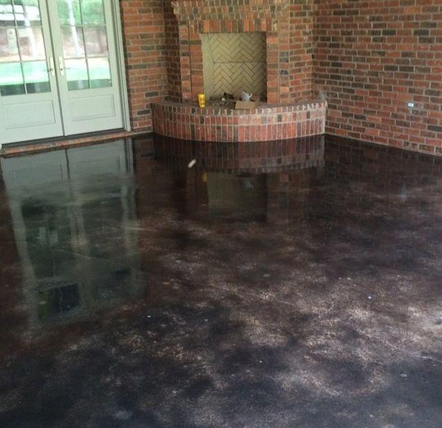 Concrete Stain In Black, Abilene Texas. By Solid Impressions. Dekorativer  BetonEpoxitZukünftiges HausKüche Und EsszimmerFußbödenAußenbereich