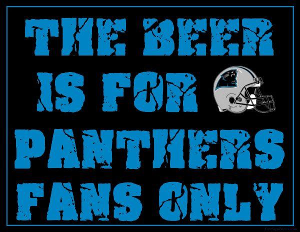 b90ab7fca Carolina Panthers Fan Sign - Man Cave Sign
