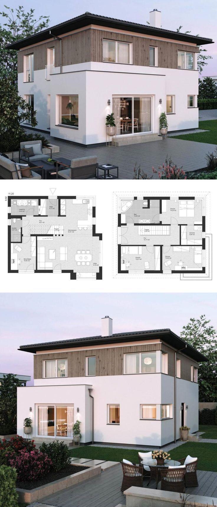 Moderne Stadtvilla ELK Haus 155 ELK Fertighaus