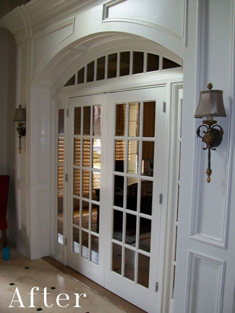 Woodwork Cabinetry French Doors Interior Arched Doors French