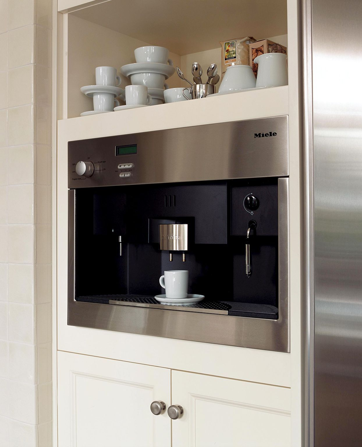 23 Home Coffee Stations For The Ultimate Cafe Experience Home Coffee Stations Miele Coffee Machine Coffee Station [ 1537 x 1244 Pixel ]
