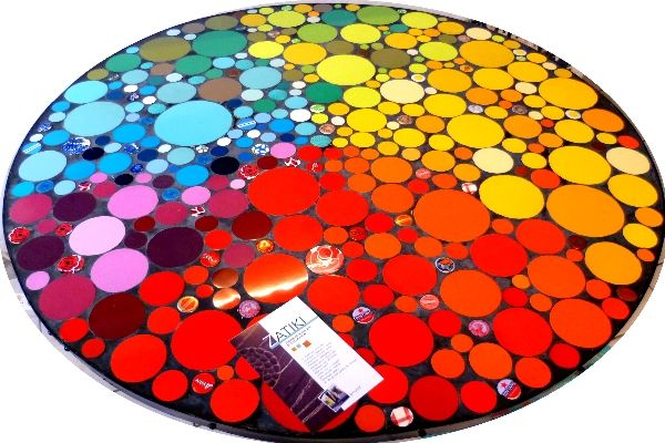 dessus de la table   table jardin en mosaïque   Pinterest