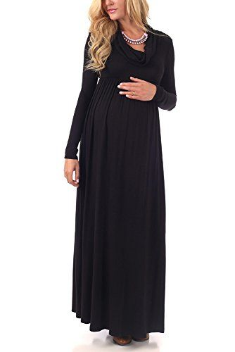 Black Cowl Neck Maxi Dress