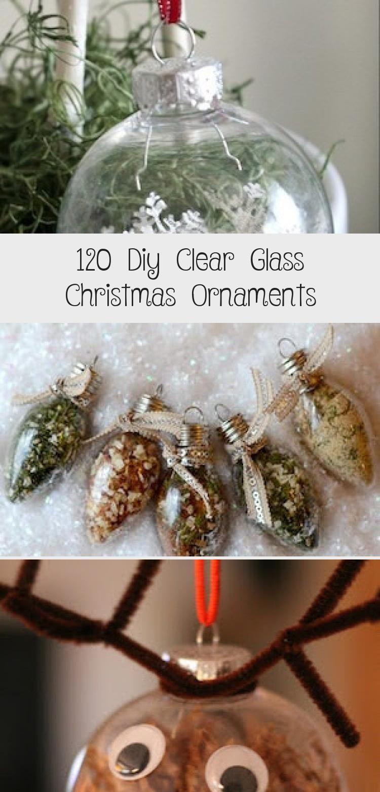120 Diy Clear Glass Christmas Ornaments Decor Dıy in