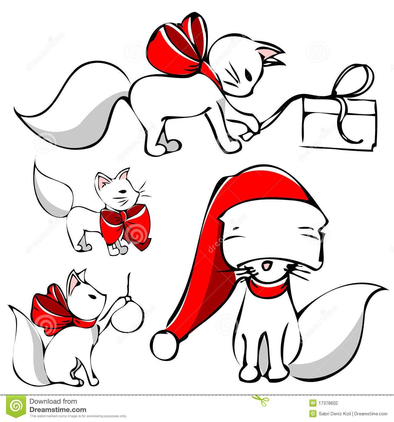 Curiosity killed the Christmas cat Xmas drawing, Easy