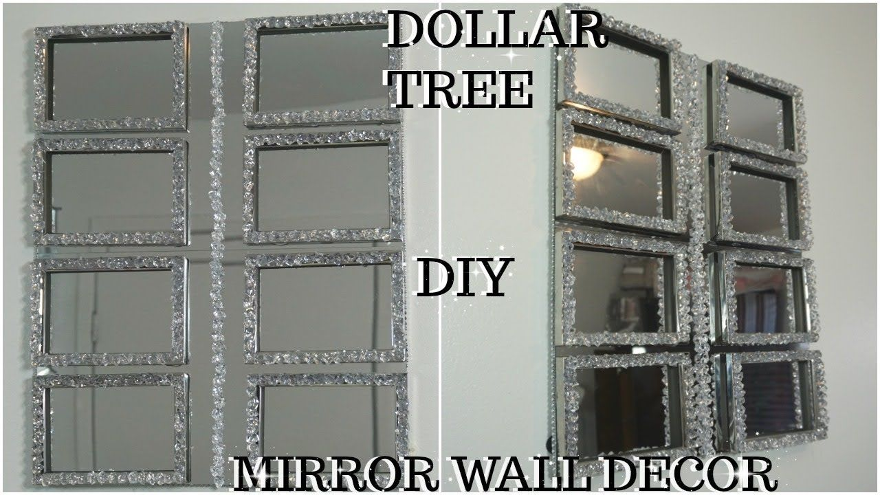 Diy Dollar Tree High End Mirror And Gemstones Wall Decor Quick